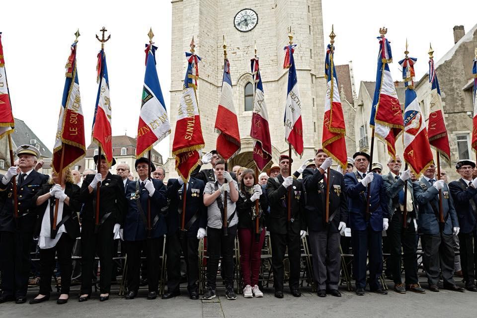 13 mai 2018 avec de jeunes porte-drapeaux