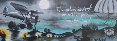 Fresque à la gloire des aviateurs et des Résistants