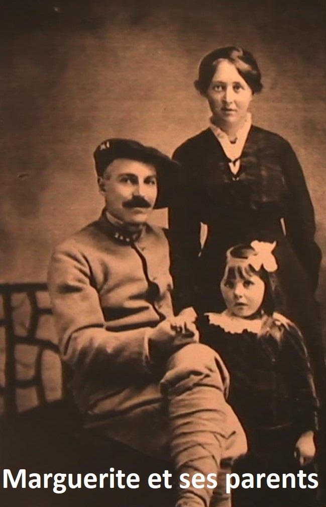 Marguerite Flanvien-Buffard et ses parents