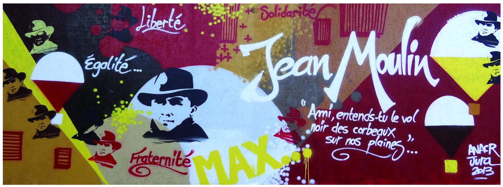 Fresque à la gloire de Jean Moulin