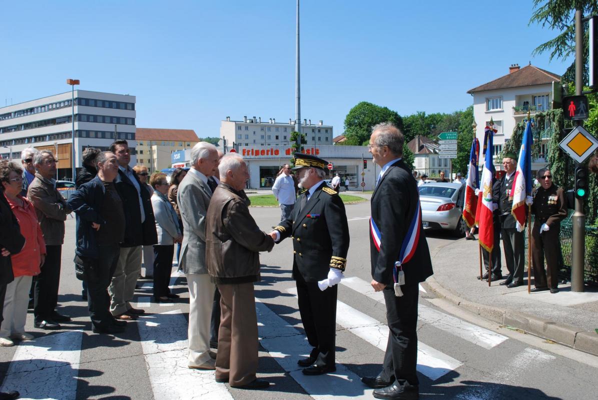 Cérémonie du 27 mai 2015: Le préfet et les Résistants Jean Machuron et Maurice Loisy