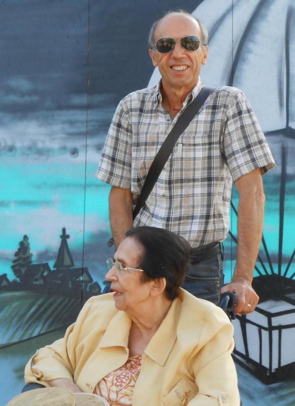 Pierre Thibert et sa mère