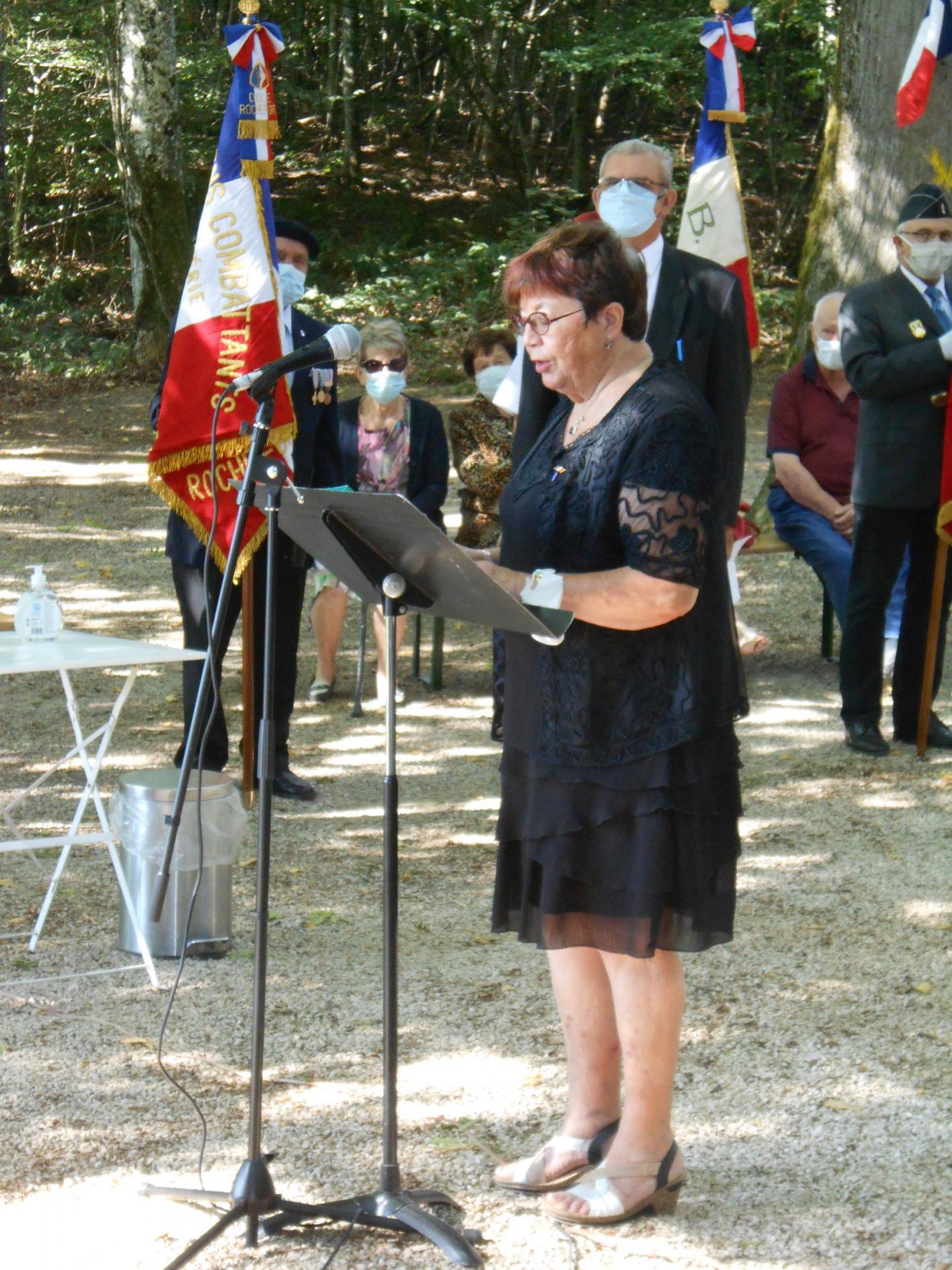Danièle Ponsot présidente du comité de l'ANACR Nord-Jura