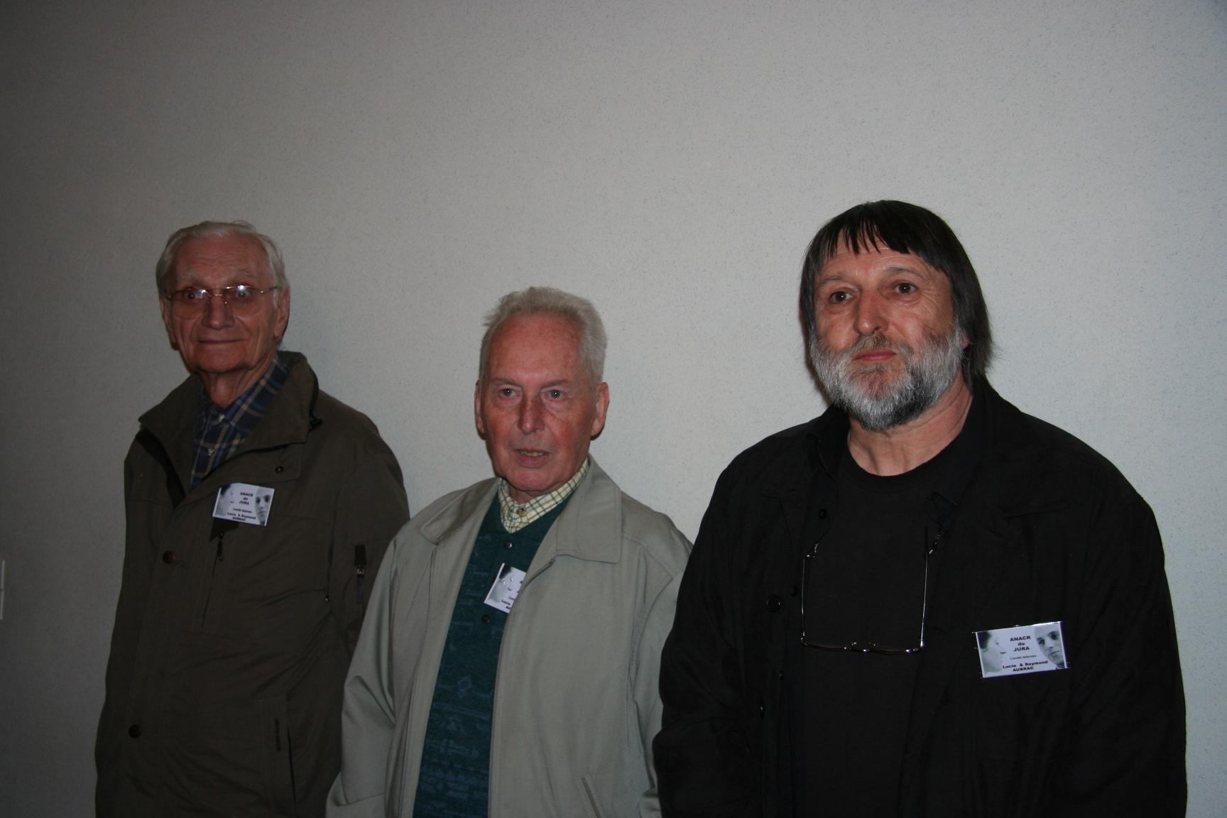 Roger Pernot, Jean Machuron, Jean-Claude Herbillon - Membres de l'ANACR