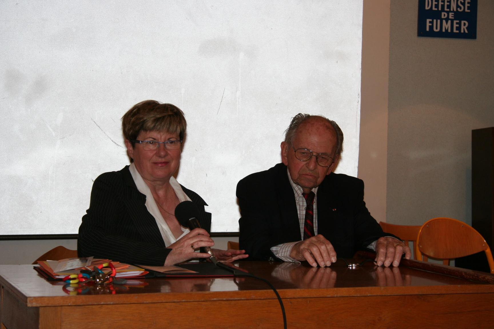 Madame le proviseur et Raymond Aubrac