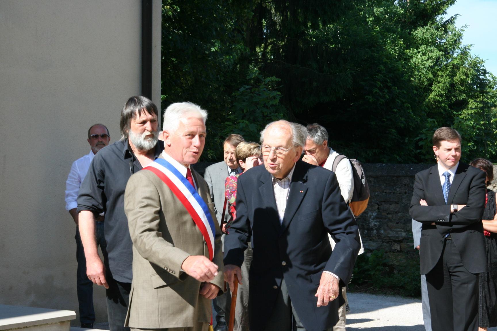 Raymond Aubrac au chateau de Villevieux