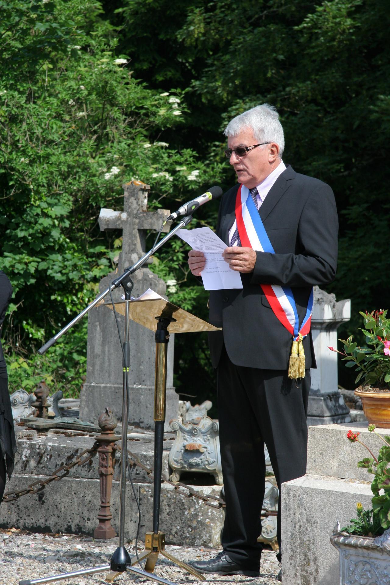 Denis Matthieu, maire de Chilly le Vignoble