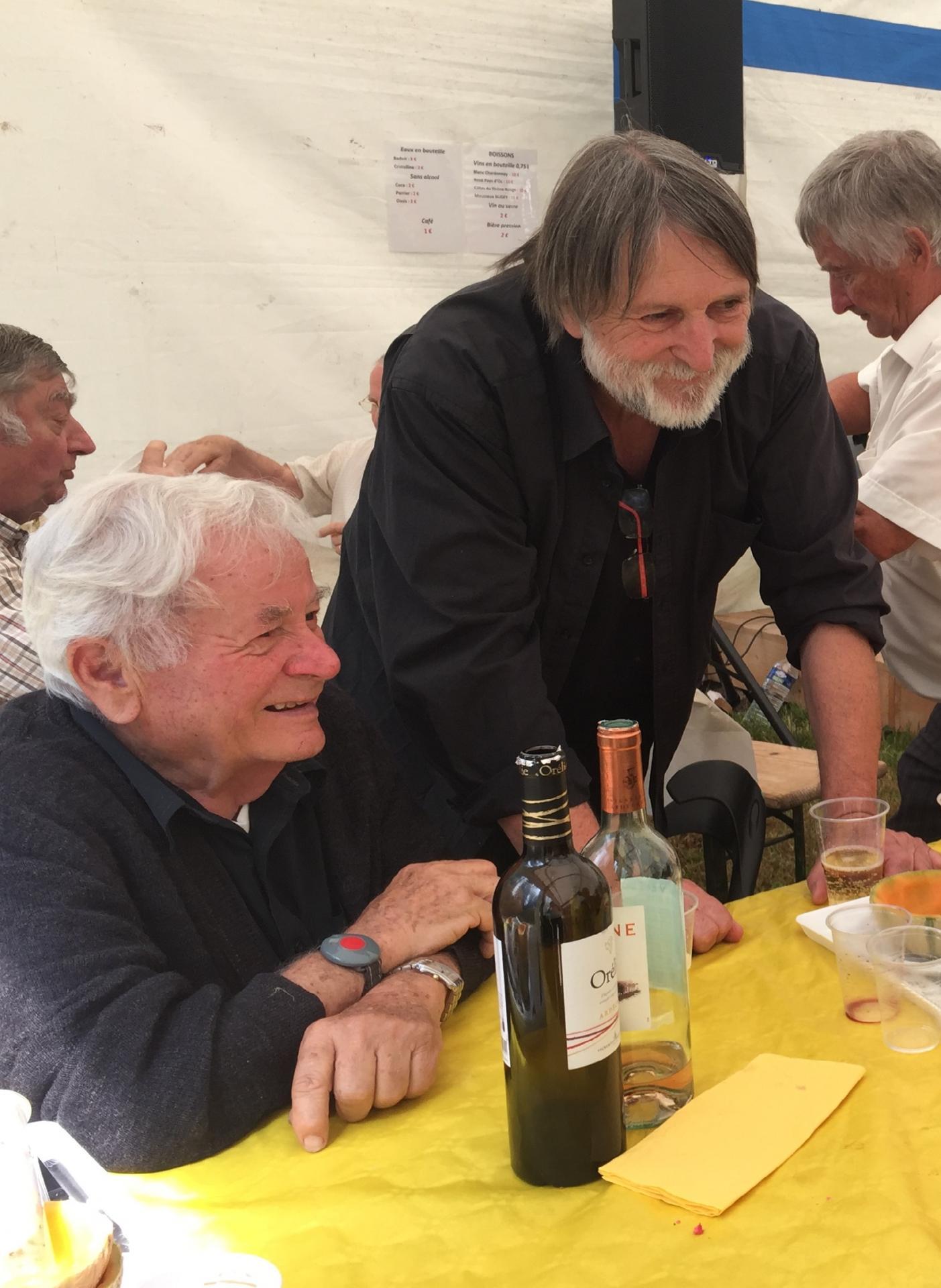 Jean Bourgeat et Jean-Claude Herbillon - Borne au lion juillet 2017