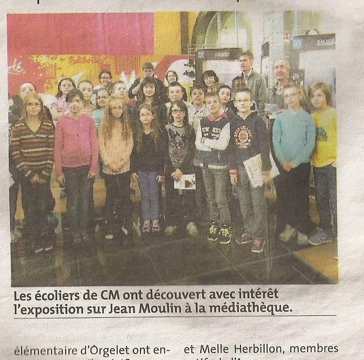 Article de presse exposition orgelet