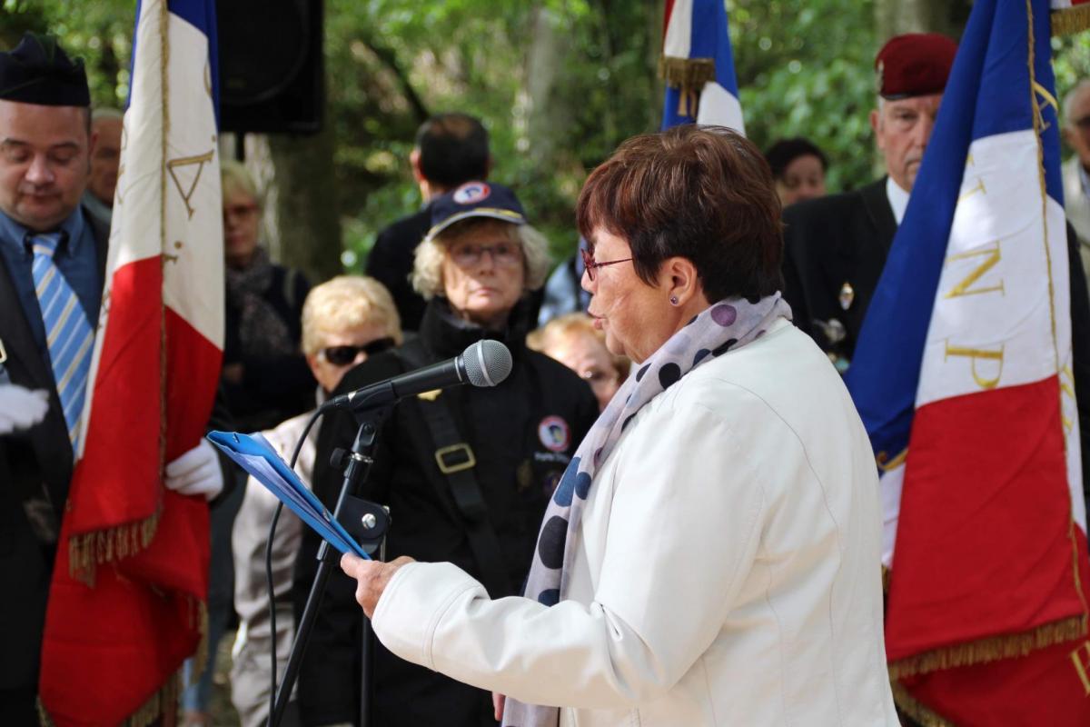 Cérémonie du bois des Ruppes: Danièle Ponsot